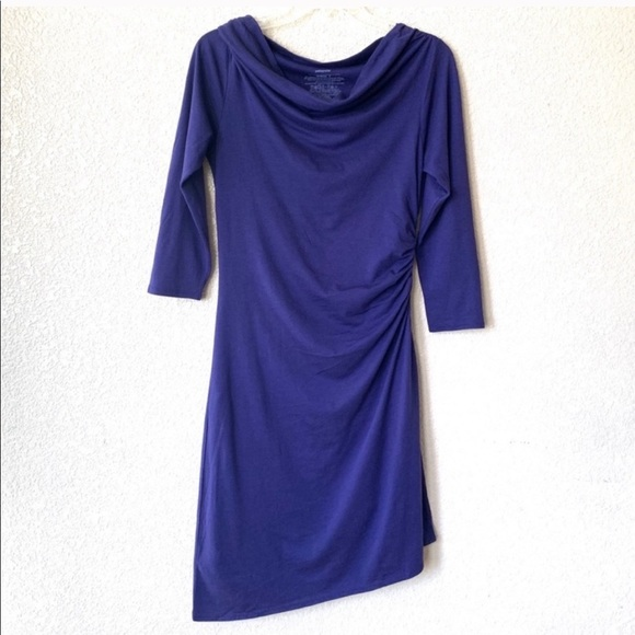 Patagonia Dresses & Skirts - Patagonia Purple Asymmetrical 3/4 Sleeve Dress
